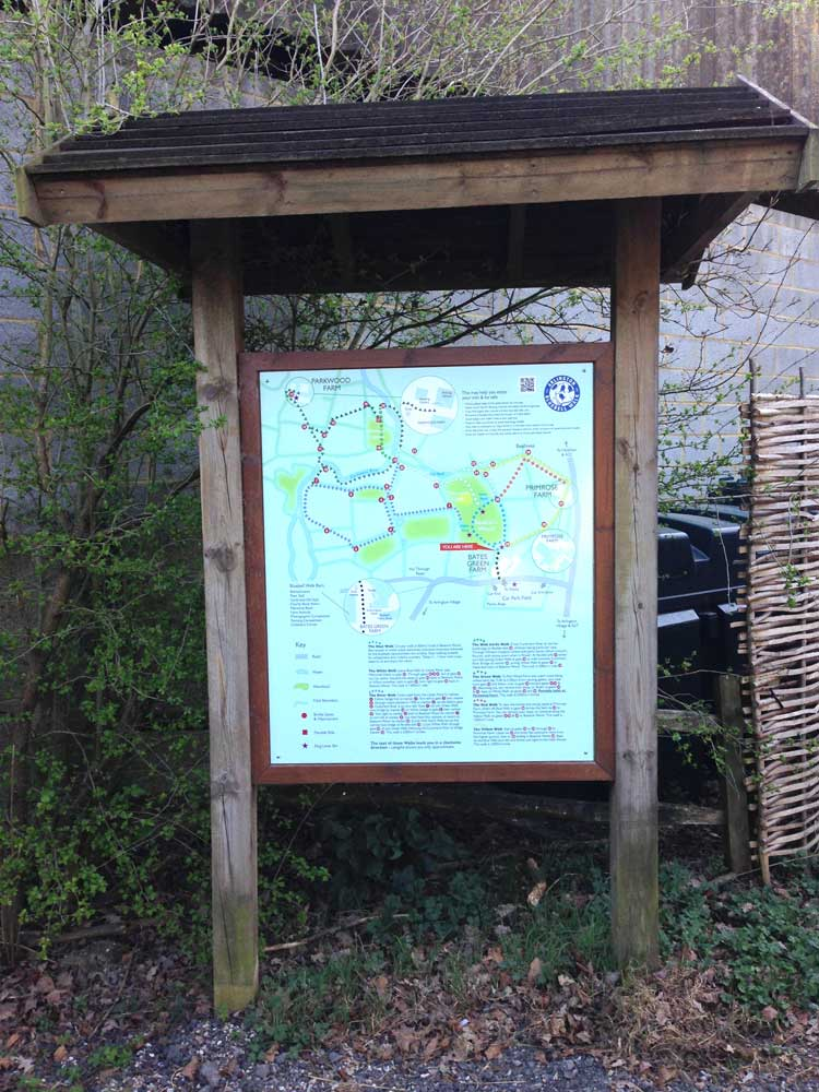 BLUEBELL WALK MAP BOARD