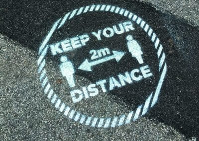 Keep Your Distance Paint Stencilled