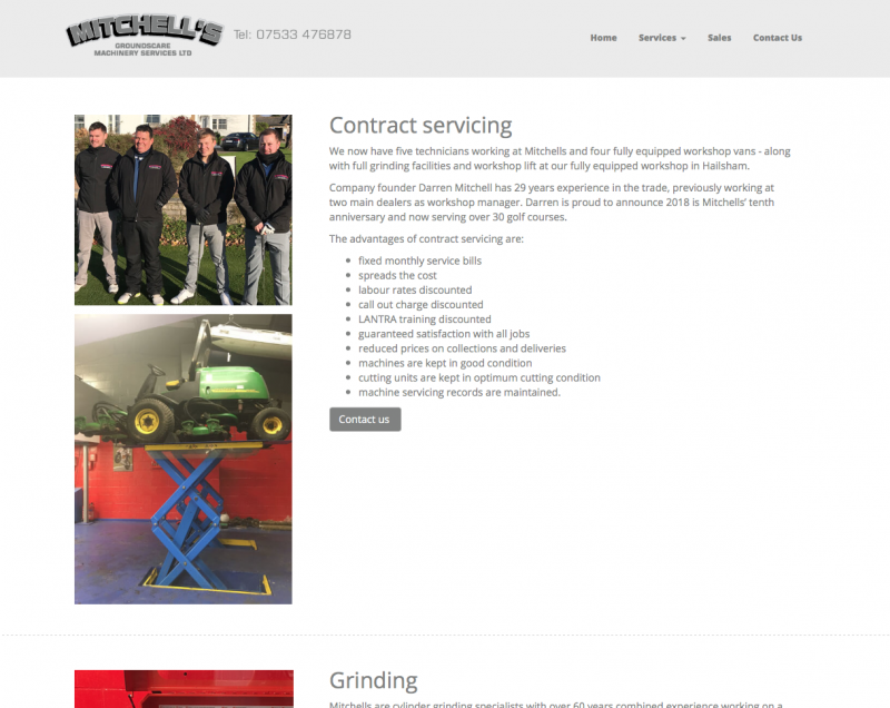 mitchells services website services page