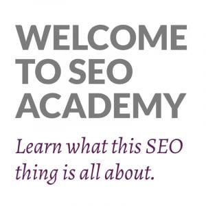 Welcome to the SEO Academy