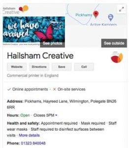 google Hailsham Creative