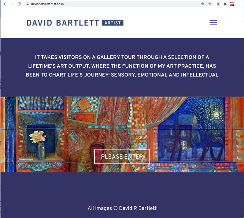 David Bartlett artists website